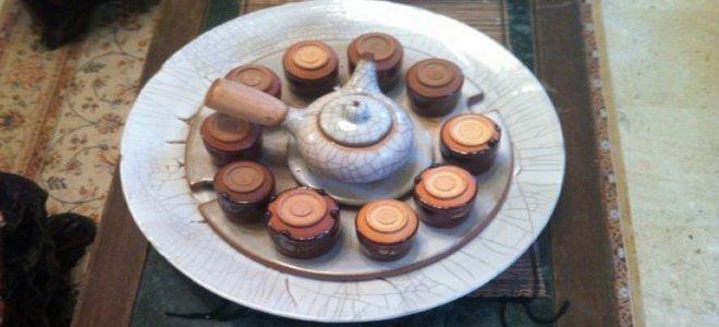 茶壺+茶杯組與托盤